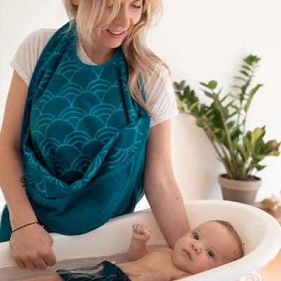Baby Towel Petrol 3
