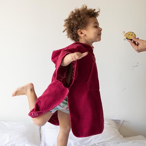 Toddler Cape Cerise 2