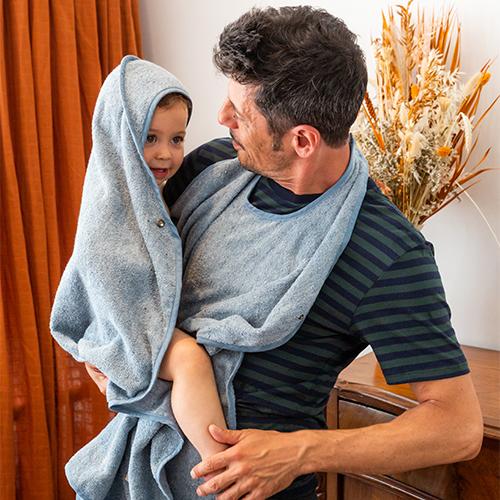 Recycled Denim Baby Towel 1