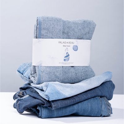Recycled Denim Baby Towel 6