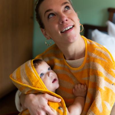 Baby Towel Sunrise Orange 3