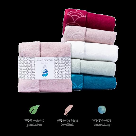 palais de l'eau voor bedrijven baby handdoek