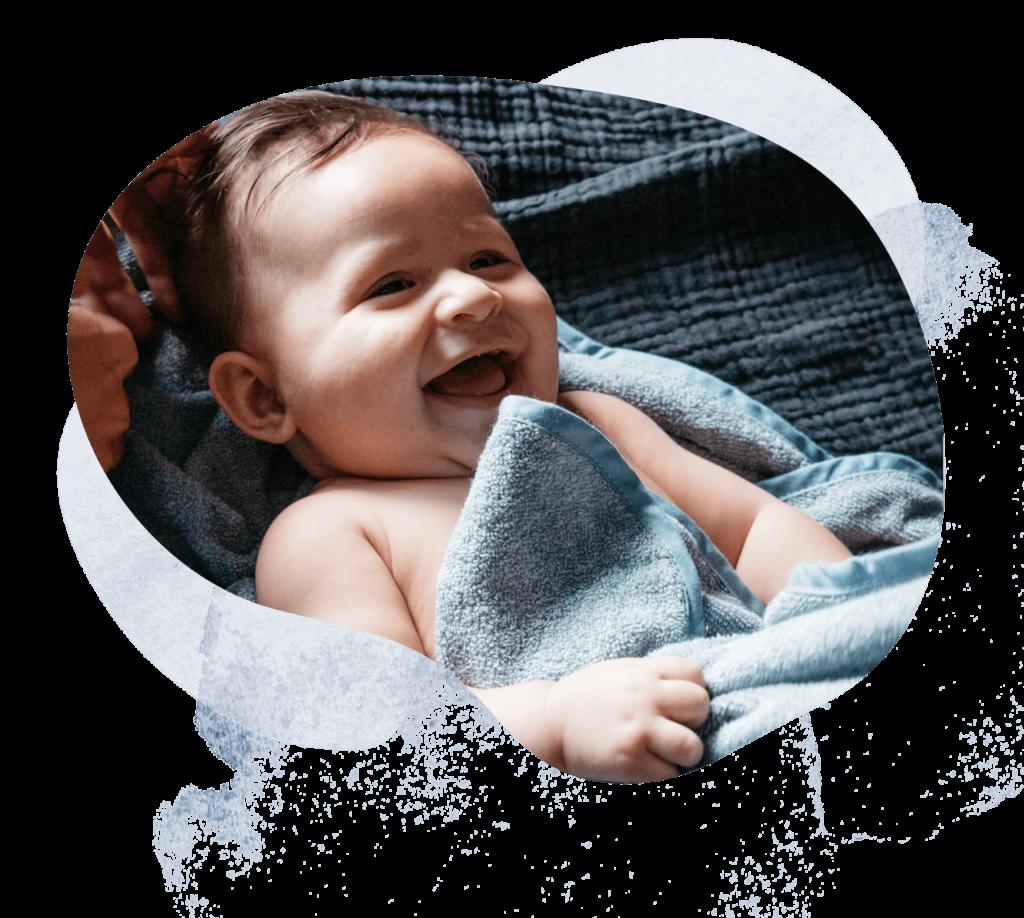 baby handdoek denim collectie